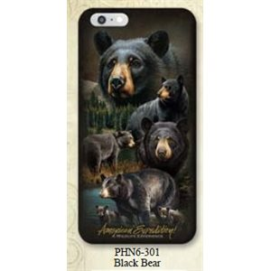 Iphone 6 Cover Black Bear Collage