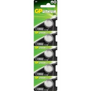 CR2032 LITHIUM COIN 3V 220 mAh, CASE PACKS 5