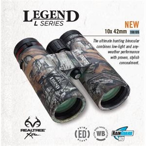 10X42 LEGEND L-SERIES, REALTREE ROOF RAINGUARD HD, UWB. ED G