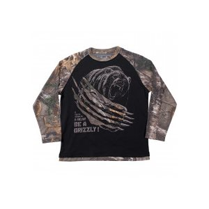 BE A GRIZZLY BLACK / REALTREE CAMO