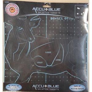 "AccuBlue Splatter Target 12X12"" Deer 5Pk"