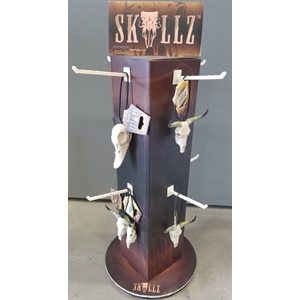 """Skullz"" spinning display, free w / purch. Of 24 ""Skullz"""