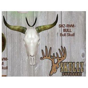 """Skullz"" mirror hanger, Bull"