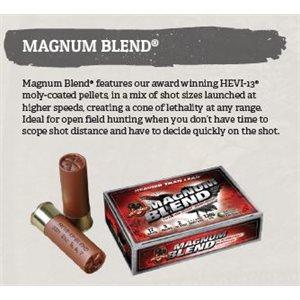 """HEVI-13 Magnum Blend 12 gauge 3.5"""" 2.25 oz.- 5,6,7 - 5 ct."""