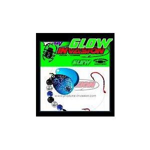 GLOW Bleu et Noir (Hologramme Argent)