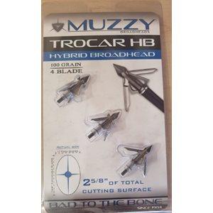 """""""Trocar HB- Hybrid Broadhead 1"""""""" x 1 5 / 8"""""""" Cut 4 Blade 100"""