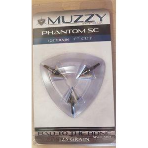 """Phantom SC 125 Grain .050"""" Blades 1 1 / 8"""" Cut (3 pack)"""