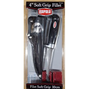"4"" Soft Grip Fillet Includes Sharpener"