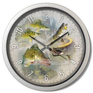 "15"" dia. Contemporary Clocks PIKE / WALLEYE"