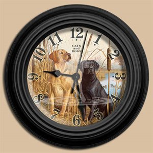 "10"" dia. Wall Clocks CATS AND DOGS"