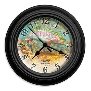 "10"" dia. Wall Clocks SHELTER VALLEY RAINBOW"