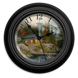 "10"" dia. Wall Clocks A SIMPLE LIFE"