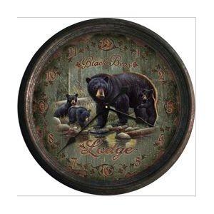 Clock 15-inch - Black Bear Lodge