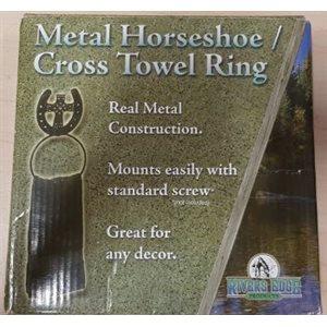 METAL HORSSHOE / CROSS TOWEL RING