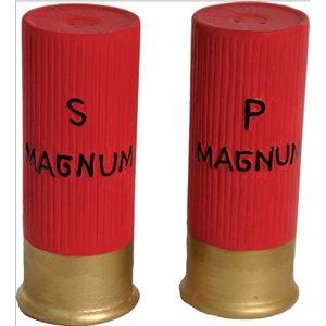 SHOTGUN SHELL SALT AND PEPPER SHAKER