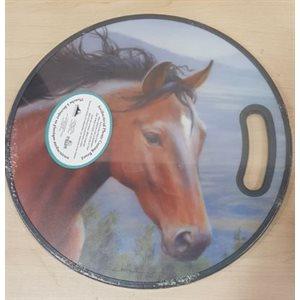 "12""ROUND PP CUTTING BOARD-HORSE"