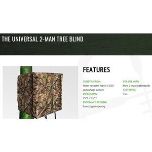 universal 2-man tree blind