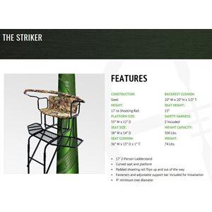 the striker - 17' ladder / rounded platform