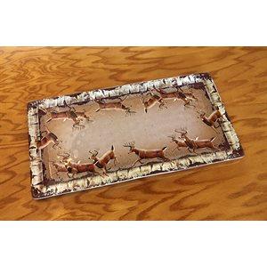 Tray Melamine 18in x 9.5in - Deer
