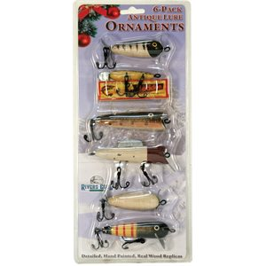 Christmas Ornaments 6-Pack - Antique Lures
